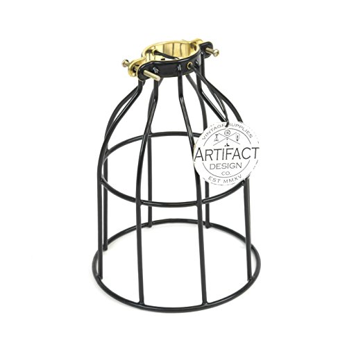 Artifactdesign Industrial Vintage Style Curved Top Light Cage For Pendant Light Lampshellip