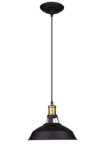 Barn Pendant Light Shadeoak Leaf Industrial Black Metal Pendant Lighting Fixture 1-light For Dining Roomkitchen