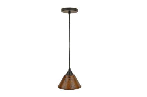 Premier Copper Products L300db 7-inch Hand Hammered Copper Cone Pendant Light Oil Rubbed Bronze