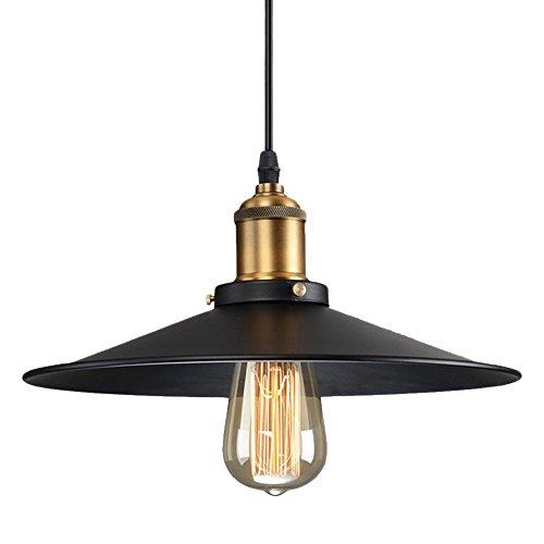Lightess Black Industrial Edison Metal Ceiling Hanging Pendant Lighting with 1 Light