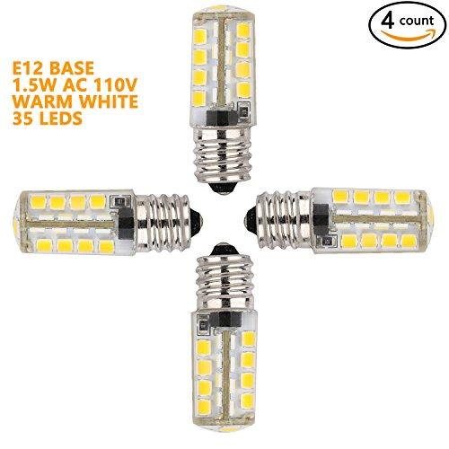 Weanas&reg 4x E12 Base 35 Led Light Bulb Lamp 15 Watt Ac 110v Warm White Undimmable Equivalent To 10w Halogen Track