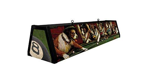 44 Acrylic Pool Table Light Dogs Playing Pool