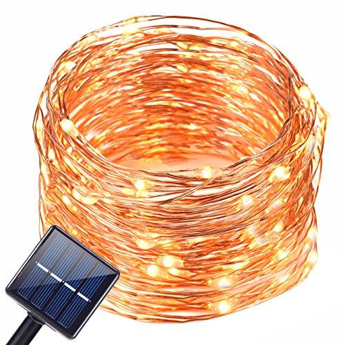 Solar String Light OutdoorOak Leaf 120 LED Solar Powered String Lights Waterproof Copper Wire Lights For GardenYardHomeLandscape