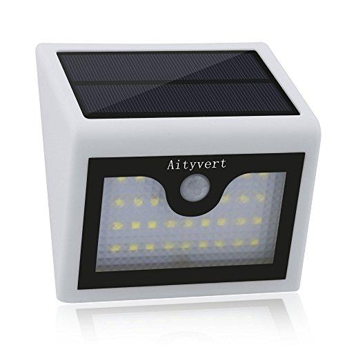 Aityvert Outdoor Solar Lights 28 LED Pathway Lighting Wireless Waterproof Garden Security Light White 1Pack