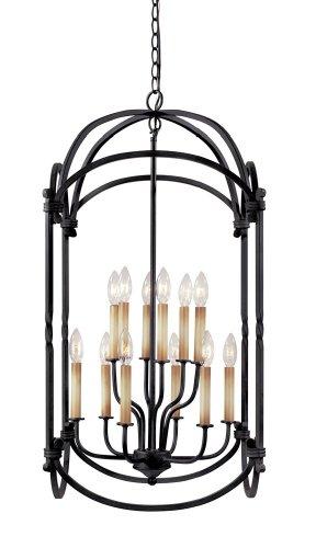 World Imports Lighting 61407-42 Hastings 12-Light Foyer Lantern Rust