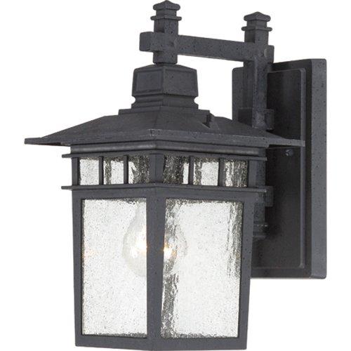 Nuvo Lighting 604953 Cove Neck One Light Wall Lanternarm Down 100 Watt A19 Max Clear Seeded Glass Textured