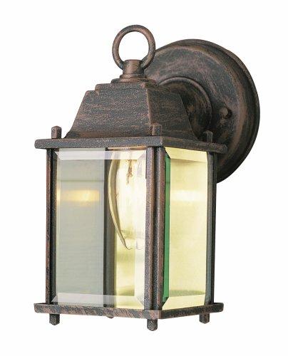 Trans Globe Lighting 40455 Rt Patrician 8&quot Rust Wall Lantern