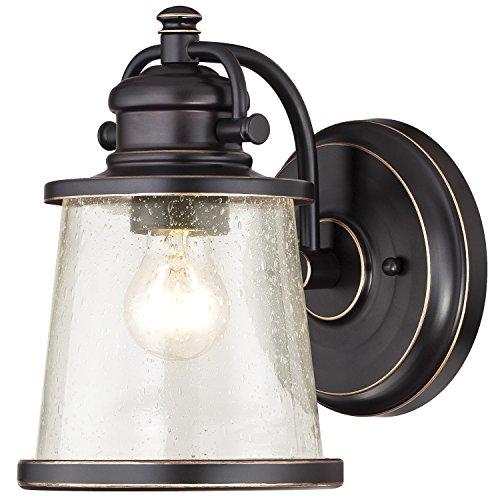 Westinghouse 6204000 Emma Jane 1 Light Outdoor Wall Lantern Amber Bronze