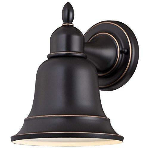 Westinghouse 6204300 Roosevelt 1 Light Outdoor Wall Lantern Amber Bronze