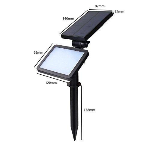 48 Led Solar Underground Light Outdoor Lanscape Light  Wall Light  In-ground Light Waterproofamp Adjustable