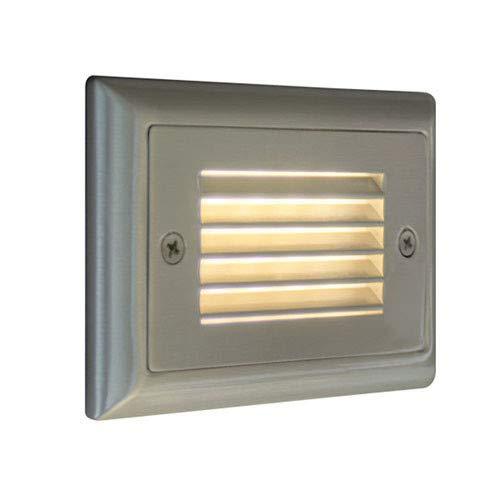 Bruck Lighting 138021BNAMBHL Step 1 4-34 Wide Integrated Amber LED Landscape Step Light