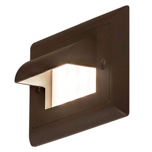 Bruck Lighting 138021BZAMBHC Step 1 4-34 Wide Integrated Amber LED Landscape Step Light