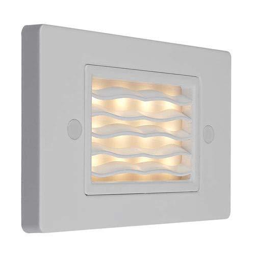 Bruck Lighting 138021WH3HW Step 1 4-34 Wide Integrated 3000K LED Landscape Step Light