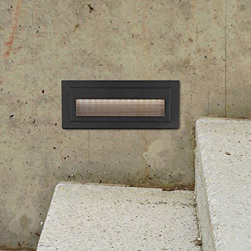 VONN VOS39637BL Modern Single Light 8 Wide Integrated LED Landscape Step Light