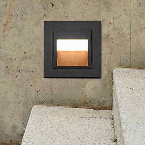 VONN VOS55477BL Modern Single Light 4 Wide Integrated LED Landscape Step Light