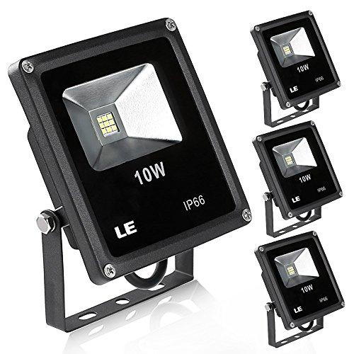Le 10w Led Flood Lights Led Outdoor Lighting 100w Halogen Bulb Equivalent 760lm Waterproof 6000k Daylight