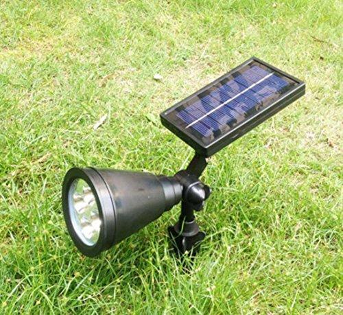 LingStar 4 LED Solar Lights Spotlight Outdoor Landscape Lighting Wall Light