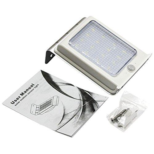 Solar Power Motion Sensor light 16 LED Garden Security Outdoor Waterproof Lamp