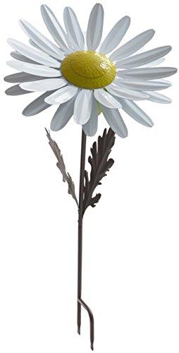 Desert Steel White Daisy Garden Torch