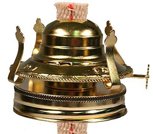 Creative HobbiesM999M -Oil Lamp Replacement Burner Chimney Holder for Mason Jars Turn Your Mason Jar Into a Nostalgic Oil Lamp Hurricane Lamp 2 Pack