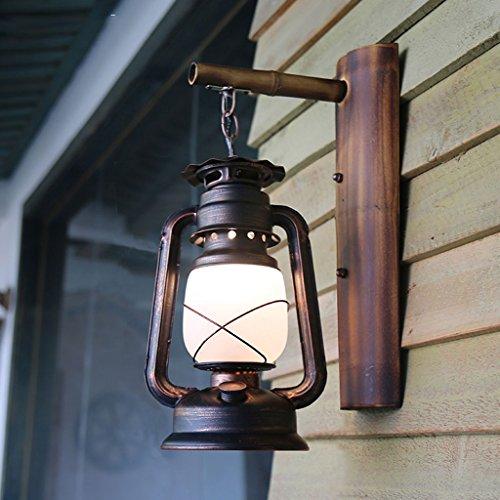 Creative Chinese Retro Wall Lamp Kerosene Lantern Restaurant Balcony Bedroom Staircase Bamboo Wall Lamps