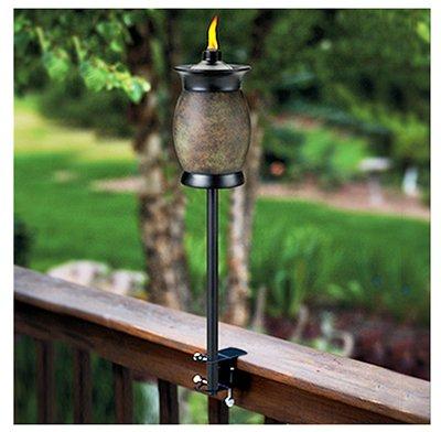 4 ea Lamplight Farms  Tiki 1112155 4-In-1 Multi Use Citronella Patio Torches