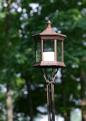 Starlite Garden And Patio Torche Slttcg Solar Lantern Tiki Torch Brownclear Glass