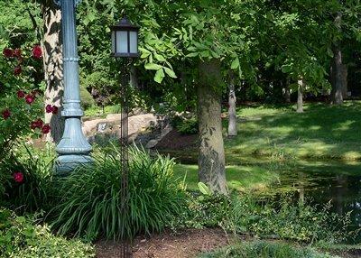 Starlite Garden And Patio Torche Slttfg Solar Lantern Tiki Torch Brownfrosted Glass
