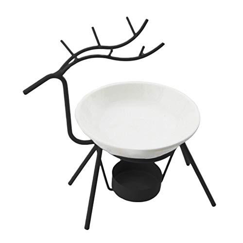 Wenje Deer Shape Oil Burner Candle Holders Aromatherapy Oil Lamp Decorations Living Room Burner Black