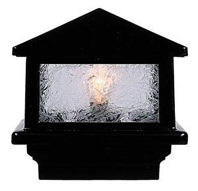 Sirius Deck Light 3-12 4x4 wood Post 16W LED Black