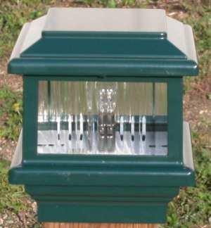 Titan Flat Top Deck Light Verde Green Fits 3 12&quot Post 3 58&quot Actual Opening 18 Watt 1 Lite