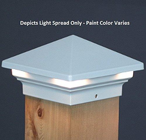 Venus LED Deck Post Light 3 12 - White  Aurora DLX6050