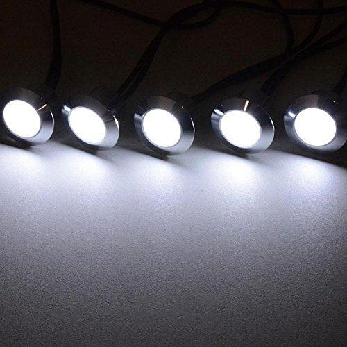 Triprel Inc Elegent 10 Pack LED Recessed Deck Lighting Fixture - COOL WHITE