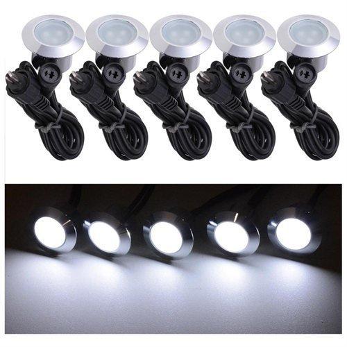 Triprel Inc Elegent 5 Pack 12v LED Recessed Deck Lighting Fixture - COOL WHITE