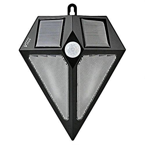Vinus Solar Power PIR Motion Sensor Waterproof Wall Spotlight Outdoor LED Deck Light for Garden Garage Driveway
