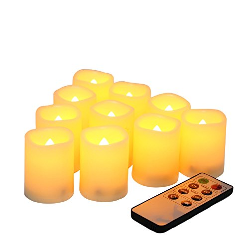 Candle Choice Set Of 10 Flameless Votive Candles With Remote And Timer
