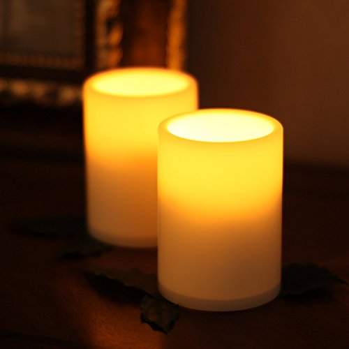 Smart Flameless Tealights Led Candle Lights Wtimer For Birthday Wedding Party pack Of 2