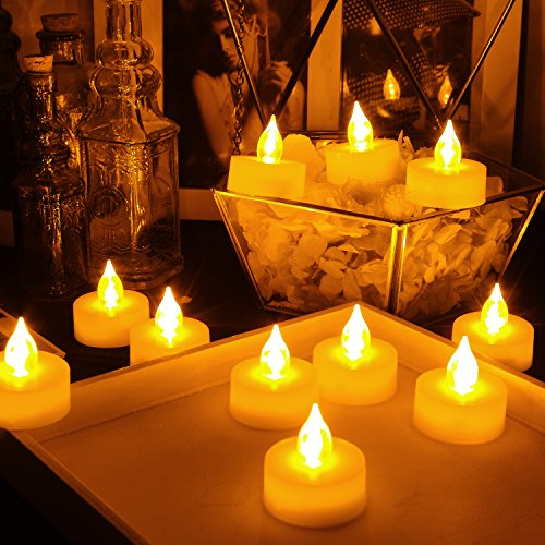 Candle Choice Set of 24 Flameless Candles Flameless Tealights LED Tealights Battery operated Tealights Long Battery Life 120 Hours Battery Included