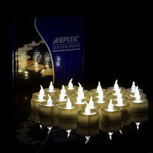Led Tea Lights Agptek&reg 24pcs Flameless Candle Lights With Timer Function Battery-operated Smokeless Lights For
