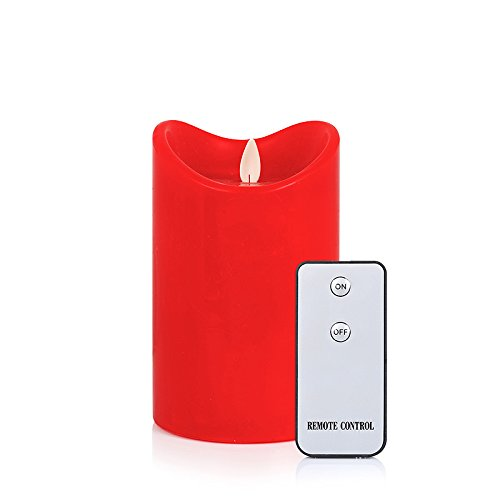 Flamelike Candles 35 X 5 - Flameless Incredibly Realistic Wax Led Moving Wick Flame Candle With Timer And Free
