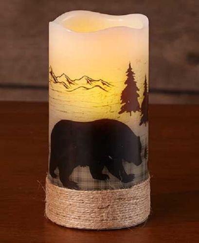 Flameless Candles Classic White LED Pillar Candle Woodland Decor candlesticks outdoor 1pcs