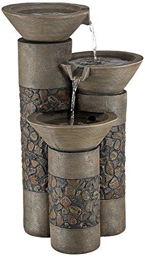 Fieldstone Tiered Column Outdoor Floor Fountain