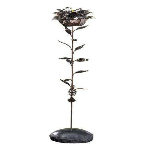Grasslands Road World Garden Lotus Hammered Metal Tall TealightVotive Holder Tealight Included