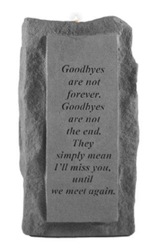 Kay Berry 05220 Goodbyes Are NotSingle-Tall Votive Holder