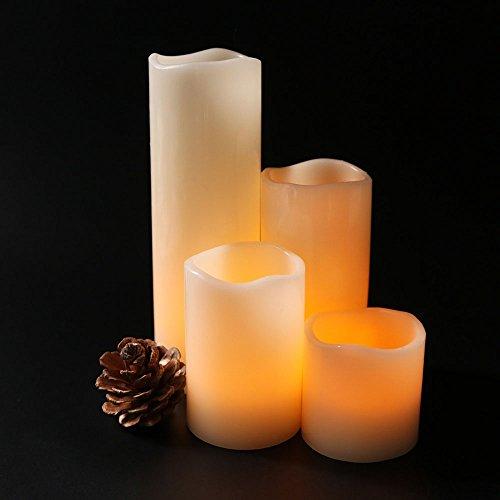 JIAYOUNG Cylindrical Led Electronic Candle Light Simulation Wedding Candlestick Candle Single 15  75Cm