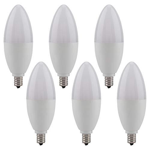 Jacksking 5W LED Candle Bulb E12 Candelabra Decoration Light Warm White Lamp with 6pcs