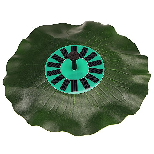 Anself Solar-power Lotus Leaf Fountain Pond Brushless Water Pump Floating Decoration Kit with Monocrystalline Solar Panel