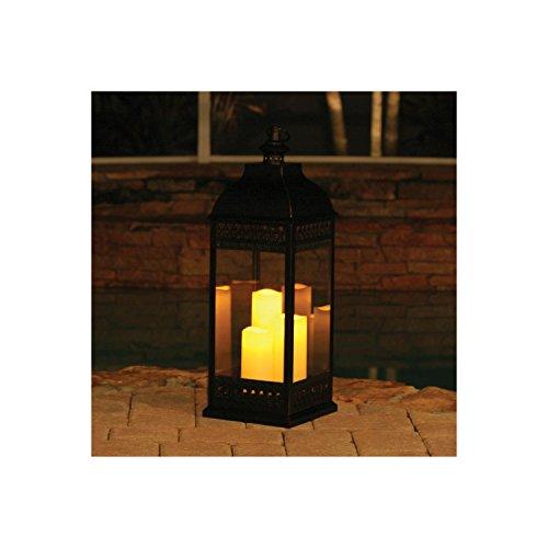 San Nicola Triple LED Candle Lantern Bronze - 2825 Tall