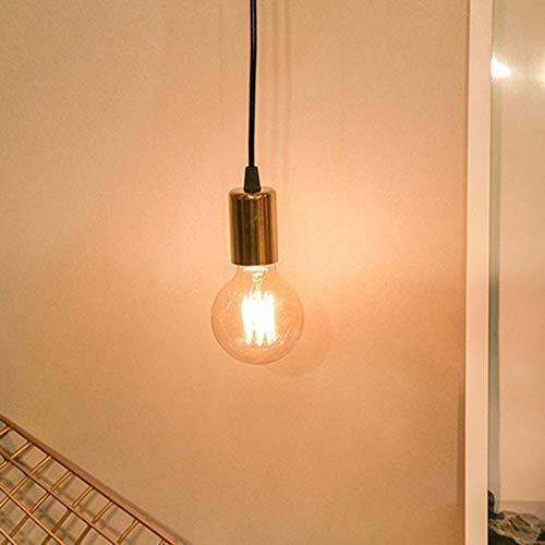 Cascaba Bedside Lamp Chandelier Single Head LED Decorative Light Bulb Retro Decorative Chandelier with lampshade