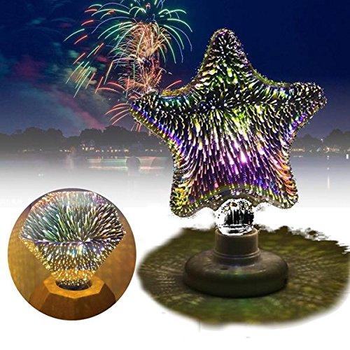Star Curtain Lights E27 3W 3D Star Flat Fireworks LED Decorative Light Bulb for Party Christmas AC220V